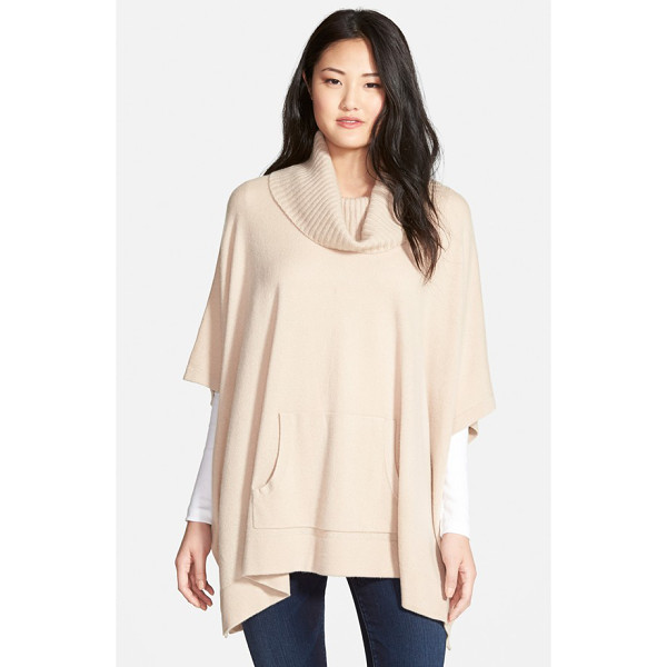 NORDSTROM cashmere poncho - A lush, cozy cowl neck lends easy elegance to a beautifully...