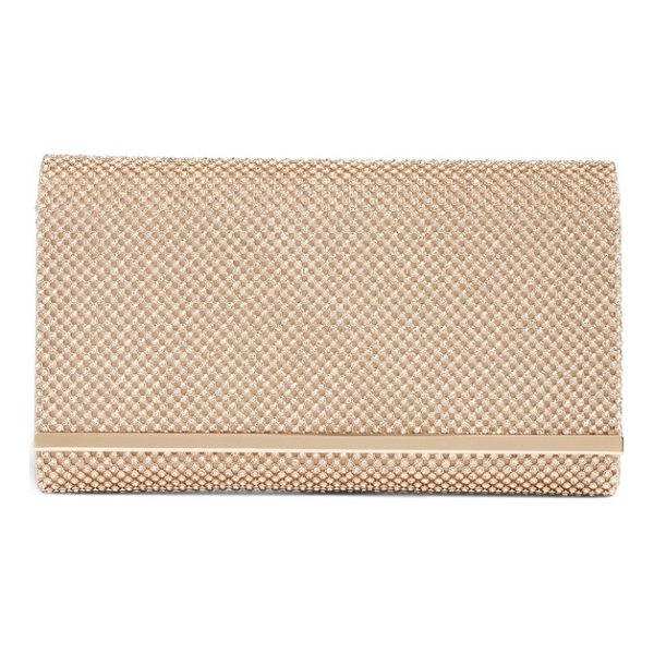 NORDSTROM crystal mesh bar clutch - Crystal-dotted metal mesh adds extravagant sparkle and...