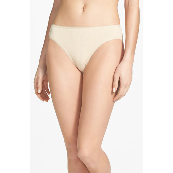 NORDSTROM high cut cotton blend briefs - Essential high-cut briefs are fashioned from a blend of...