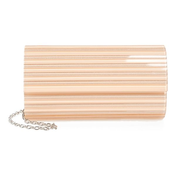 NORDSTROM metallic lucite clutch - A sleek Lucite clutch with metallic sheen holds all your...