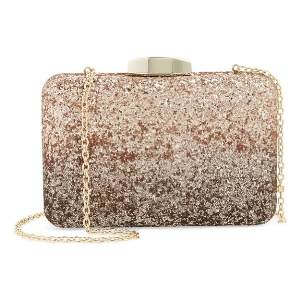 NORDSTROM ombre glitter miniaudiere - A classic miniaudiere with ombre shimmer lets you take...