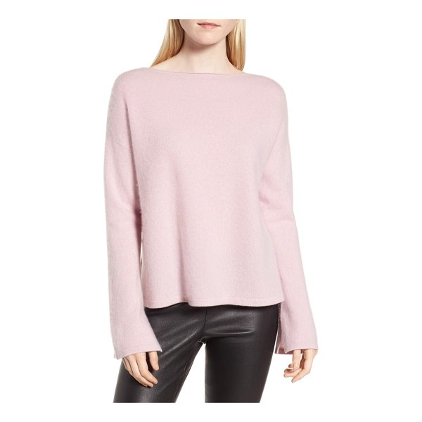 NORDSTROM SIGNATURE boiled cashmere pullover - Slits at the sides and cuffs lend layer-friendly ease and...