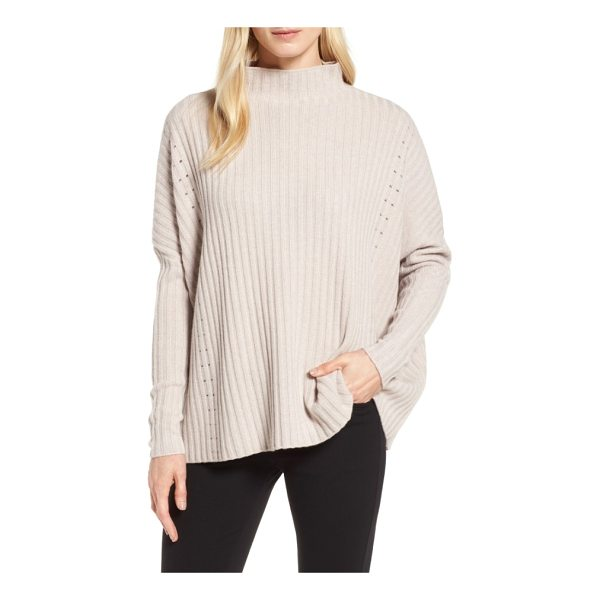 NORDSTROM SIGNATURE boxy ribbed cashmere sweater - A super-slouchy pullover feels decadently cozy in a...