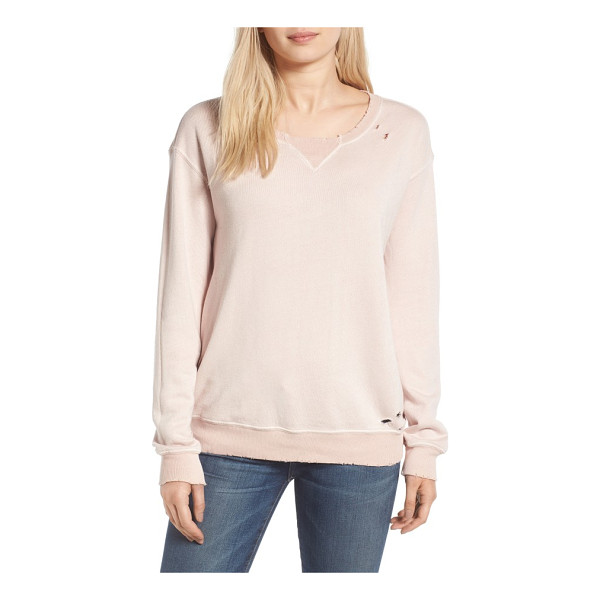 N:PHILANTHROPY joni distressed sweatshirt - Distressed edges and ragged holes age this slouchy French...