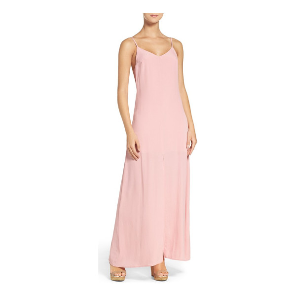 NSR maxi dress - Crisp, airy crepe skims the figure in this alluring...