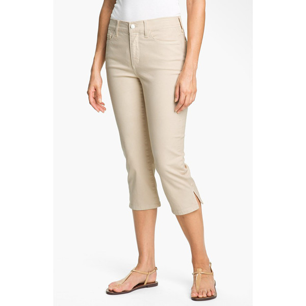 NYDJ nanette stretch crop jeans - Cropped hems with side slits lend a playful attitude to...