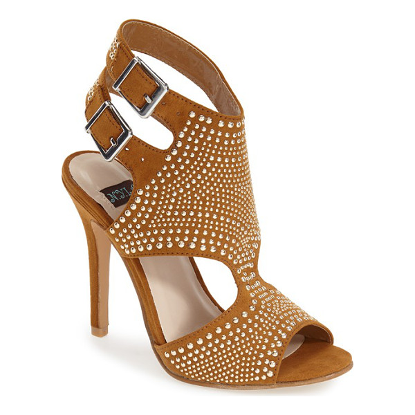 N.Y.L.A. pemkrook studded cutout sandal - Polished studs and curvaceous cutouts lend modern edge to...