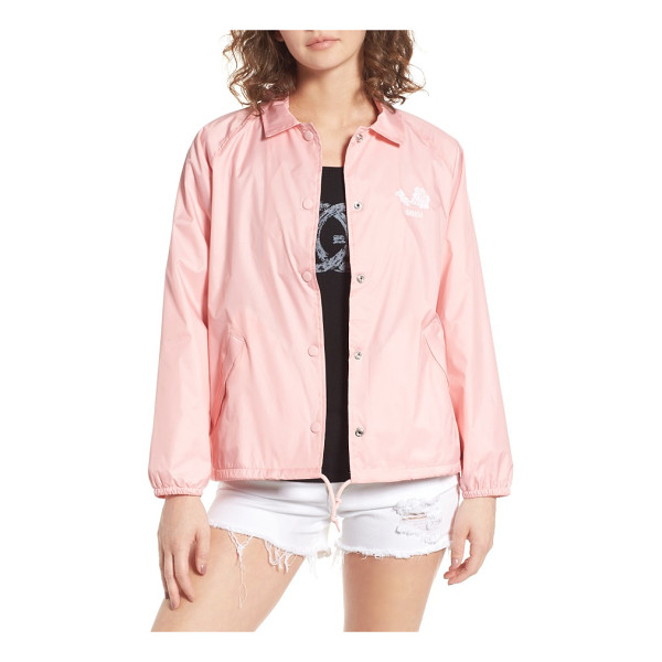 OBEY caviar coach's jacket - Call the shots in this nylon coach's jacket classically...