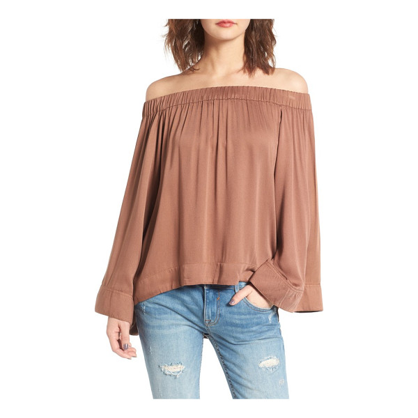 ONE TEASPOON boy bowie off the shoulder top - This flowy, lightweight blouse is effortlessly breezy and...