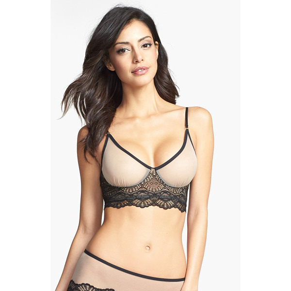 ONLY HEARTS whisper sweet nothings soft cup bra - A wide base of ornately scalloped lace helps provide light...