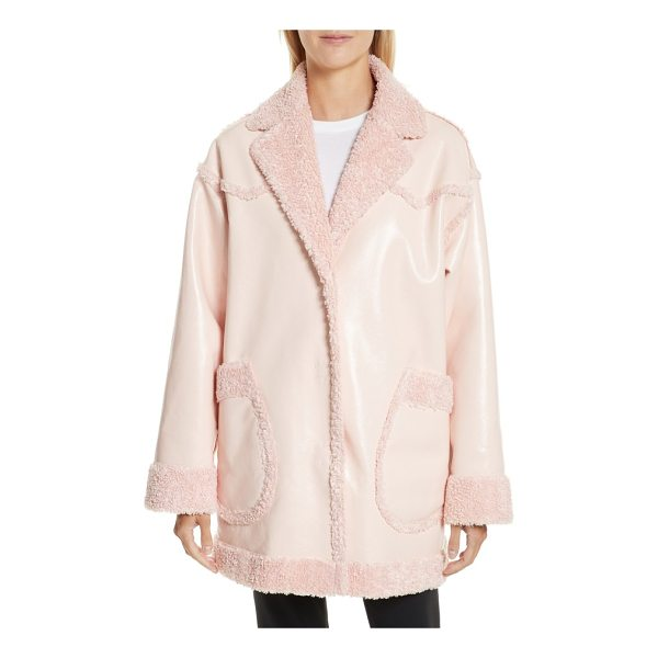 OPENING CEREMONY faux shearling & faux patent reversible coat - Reversible outerwear is an Opening Ceremony staple, and...