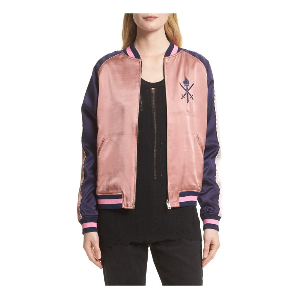 OPENING CEREMONY reversible silk bomber jacket - Embrace one of the season's hottest jacket silhouettes with...