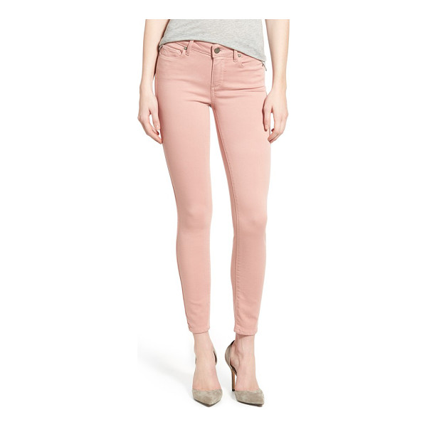 PAIGE transcend - Ankle-cropped ultra-skinny jeans are cast in a beautiful...