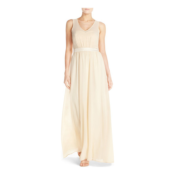 PAPER CROWN by lauren conrad madeline shimmer bodice gown - Just a subtle touch of a shine puts this elegant and...
