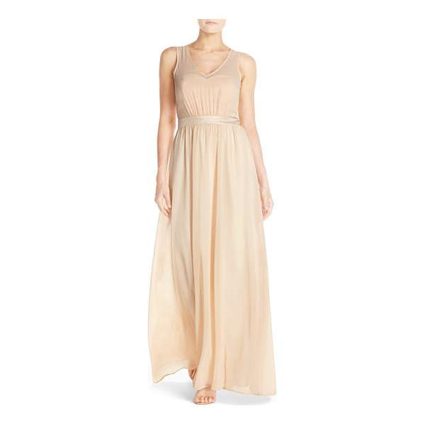 PAPER CROWN by lauren conrad 'madeline' shimmer bodice gown - Just a subtle touch of a shine puts this elegant and...