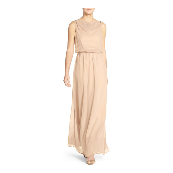 PAPER CROWN by lauren conrad 'springfield' cowl neck chiffon gown - A sleeveless gown befitting a Grecian goddess is fashioned...