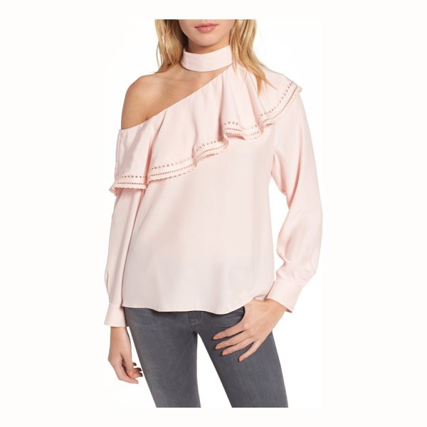 PARKER bellini one-shoulder silk blouse - Seeming opposites attract in a high-neck blouse that shows...