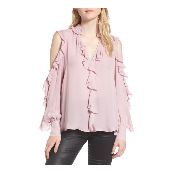PARKER elana ruffle silk blouse - Tiered ruffles float and flutter down this silk georgette...