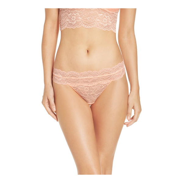 PASSIONATA lulu thong - Romance meets comfort in this sheer stretch-lace thong.