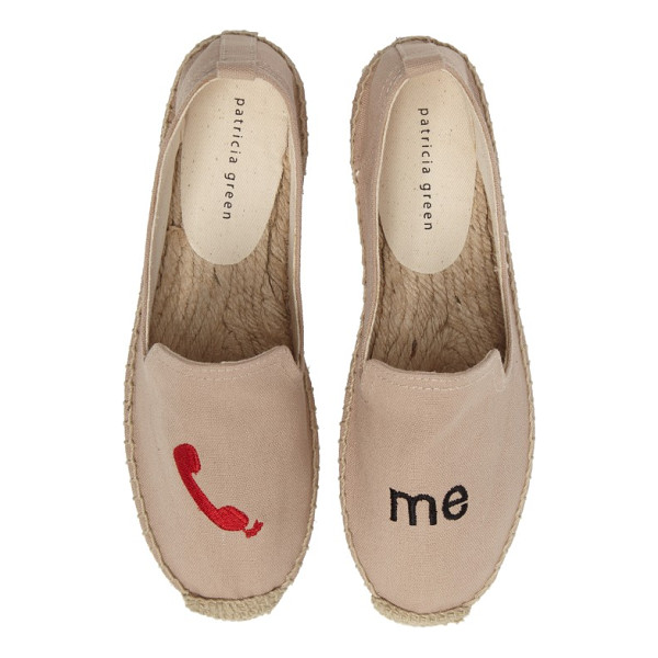PATRICIA GREEN call me espadrille flat - They've got your number-let them know they can call you...