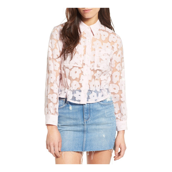 PAUL & JOE SISTER crop burnout shirt - Cropped to pair perfectly with high-waisted styles, this...