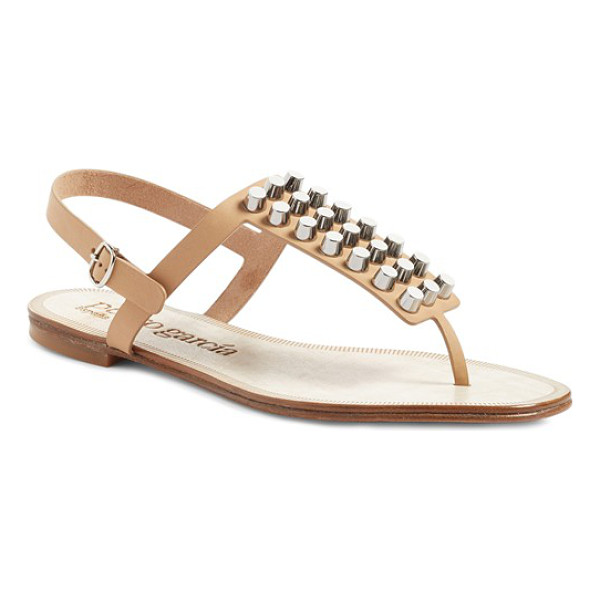 PEDRO GARCIA eider studded sandal - A grid of flat-headed studs adds depth and confidence to a