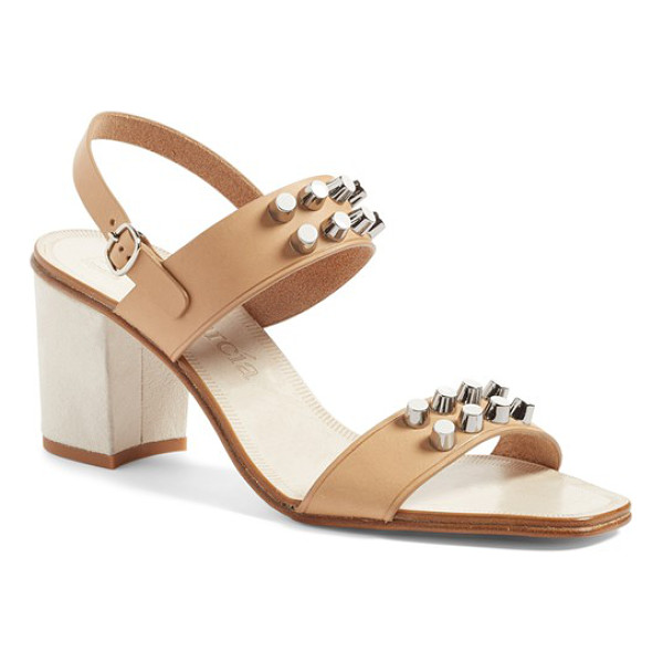 PEDRO GARCIA xanet studded slingback sandal - Rows of regimented studs mark the ankle and toe straps of a...