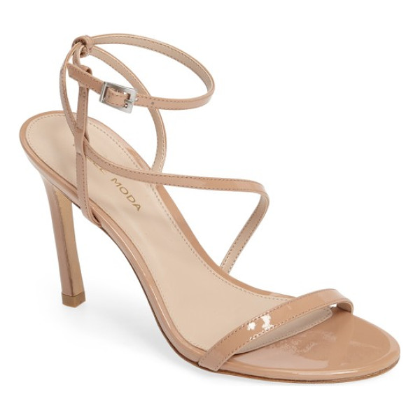 PELLE MODA angler2 sandal - A sleek leather sandal gets a modern touch with slim