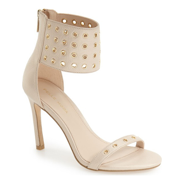 PELLE MODA 'ansley2' cuff sandal - Peekaboo grommets punctuate the towering ankle cuff and...