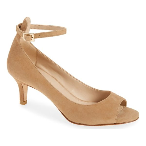 PELLE MODA bey open toe pump - An open-toe leather pump on a low tapered heel rises high...