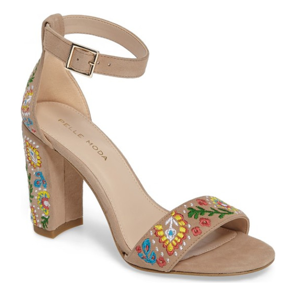 PELLE MODA 'bonnie' ankle strap sandal - A minimalist ankle-strap sandal crafted in lush suede...
