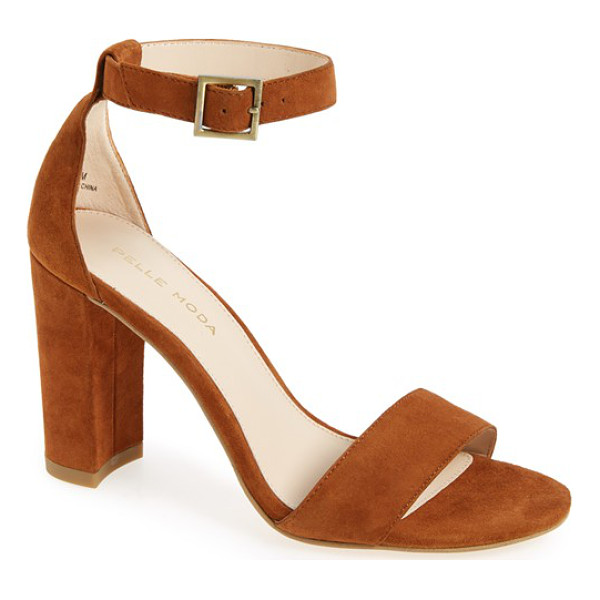PELLE MODA 'bonnie' ankle strap sandal - A minimalist ankle-strap sandal crafted in lush suede