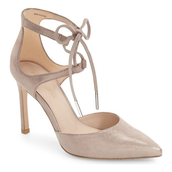 PELLE MODA dori pointy toe cage pump - Ghillie lacing connects the slender ankle straps of this...