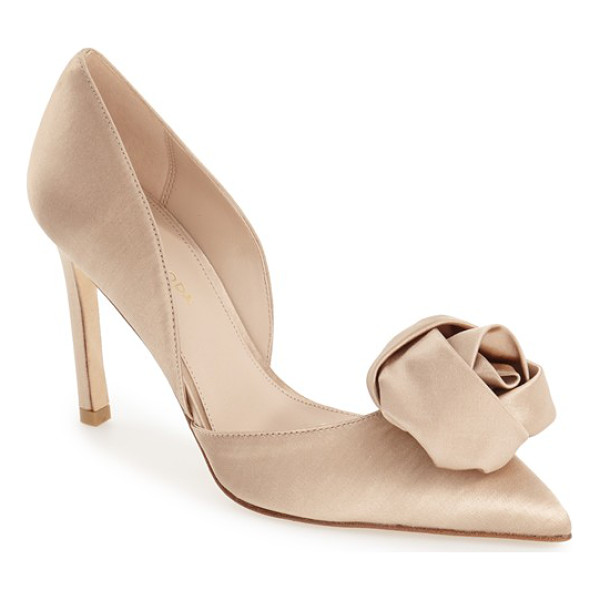 PELLE MODA 'dorsey' pointy toe pump - A gorgeous silk flower adorns the sultry pointy toe of this...