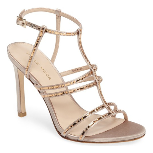 PELLE MODA essey 2 sandal - Glittering crystals highlight the slim cage straps of a...