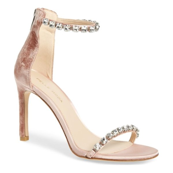 PELLE MODA frisk embellished sandal - Faceted crystals lend showstopping glamour to a minimalist,...