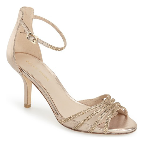 PELLE MODA 'isabel' crystal embellished d'orsay sandal - Slender crystal-embellished straps converge at the open toe...