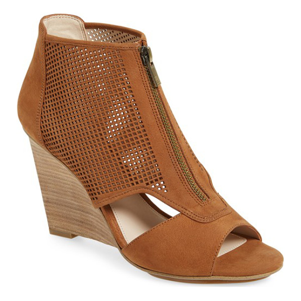 PELLE MODA 'oria' wedge bootie - A perforated upper and clean cutouts add ample modern style...