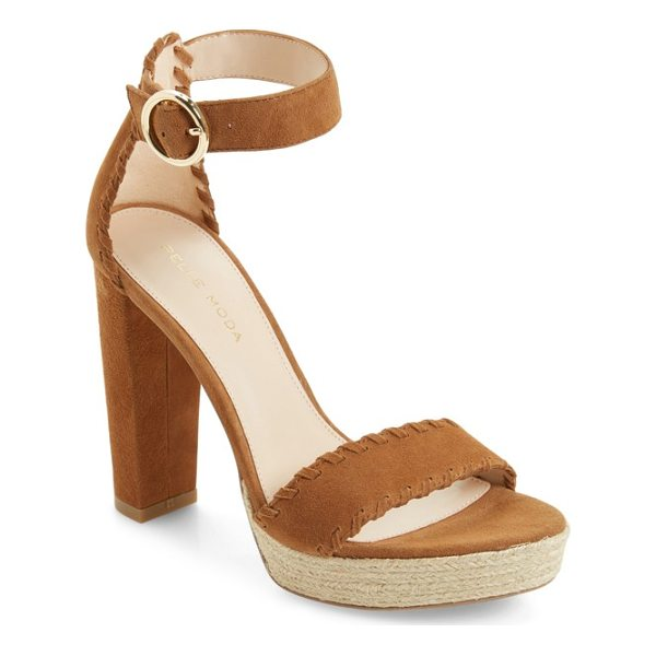 PELLE MODA palo ankle strap sandal - A jute-wrapped platform and a tall block heel elevate a...