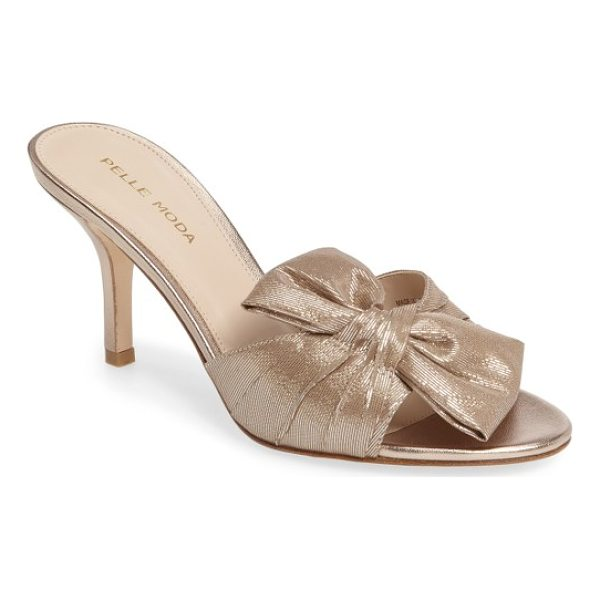 PELLE MODA riri sandal - A lavish bow adds a feminine flourish to a beautiful sandal...