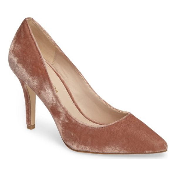 PELLE MODA vally2 pointy toe pump - Plush velvet adds dappled shimmer and texture to a gorgeous...