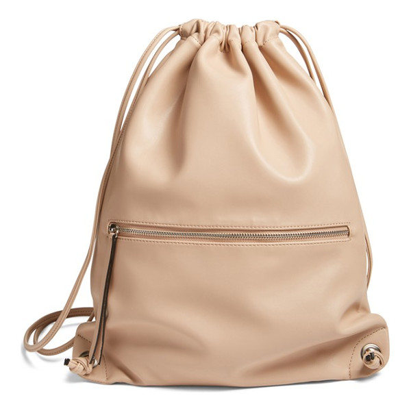 PHASE 3 faux leather sling backpack - Add a contemporary-chic element to your street style with a...