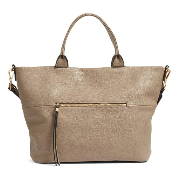 PHASE 3 faux leather tote - A spacious tote is crafted from softly pebbled leather for...