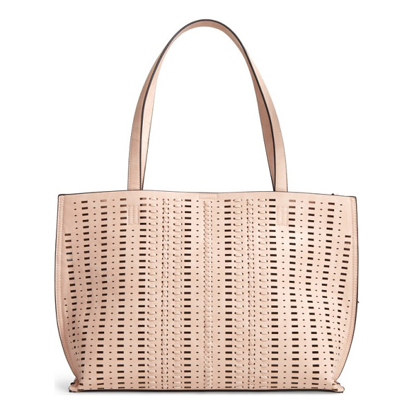 PHASE 3 woven faux leather tote - Woven details bring a Southwestern feel to a versatile faux...