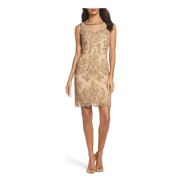 PISARRO NIGHTS embellished dress - Intensely beautiful beadwork lights up a memorable cocktail...