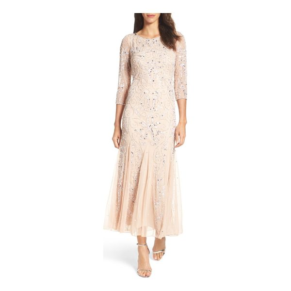 PISARRO NIGHTS embellished mesh gown - Thousands of glimmering beads and sequins sparkle around a...