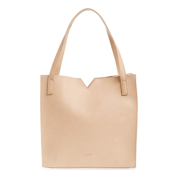 PIXIE MOOD alicia tote bag & pouch set - Clean lines define a versatile faux leather tote and