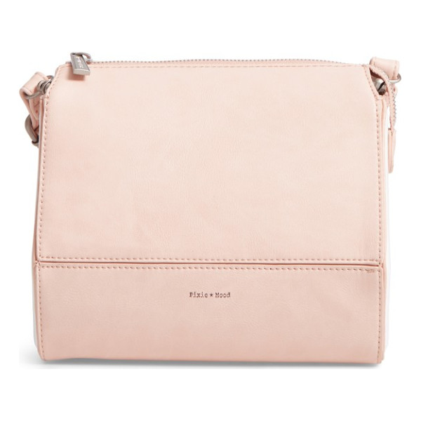 PIXIE MOOD faux leather crossbody bag - A structured, geometric silhouette intensifies the modern...