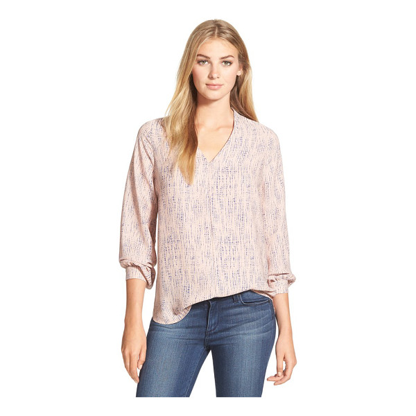 PLEIONE high/low v-neck blouse - A silky V-neck blouse in an enticing array of colors and...