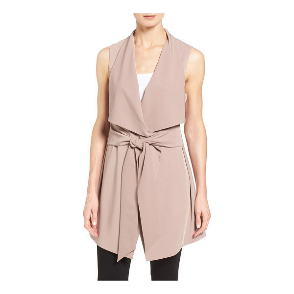 PLEIONE long drape front vest - Add a final layer of soft elegance to your look with a...